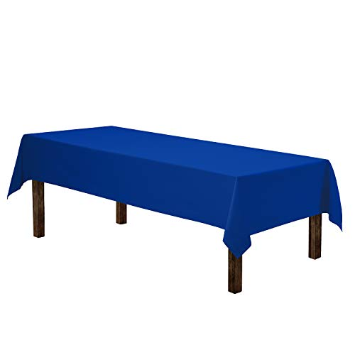 Gee Di Moda Rectangle Tablecloth - 60 x 102' Inch - Royal Blue Rectangular Table Cloth for 6 Foot Table in Washable Polyester - Great for Buffet Table, Parties, Holiday Dinner, Wedding & More