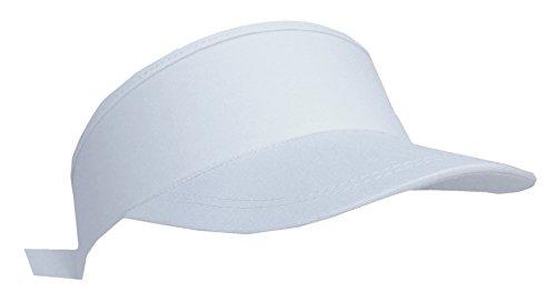 Hk (UK) Hk (UK) Cool4 Baumwoll Visor Weiß Frottee gefüttert Klettverschluß Basic Cap Kappe Visier Tennis Mütze VI03