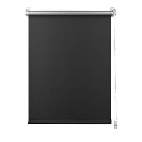 S SIENOC Klemmfix - Estor Opaco para Ventana Estor Enrollable/Thermo – Estor de Opaco Blackout Blind Silver Coating Opaque Protección de Pantalla para Ventanas y Puertas