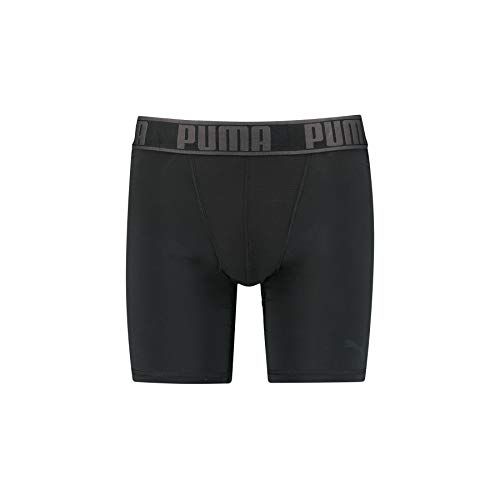 PUMA Herren Unterwäsche Active Long Boxer 1P Packed, Black, M, 671020001