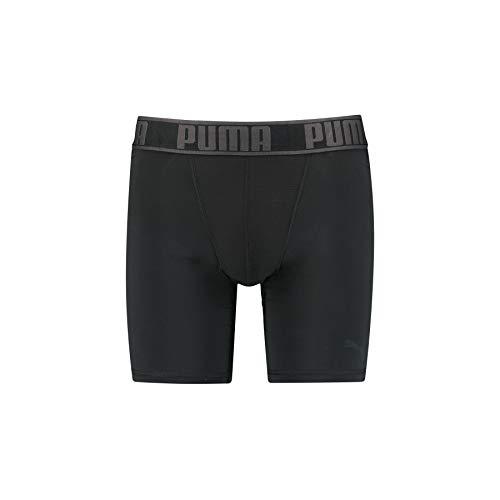 PUMA Active Long Boxer 1P Packed sous-vêtement de Sport Homme Noir (Black) Large (Taille Fabricant: 030) Lot de