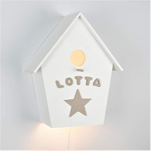 Kinderzimmerlampe, Babylampe, Geburtsgeschenk, Vogelhauslampe