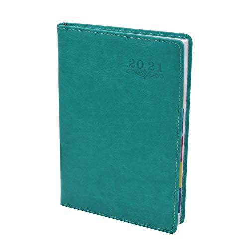 Wents - Agenda giornaliera per il 2021, con copertina morbida, 12 mesi, A5, colore blu