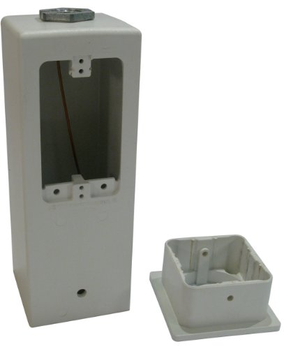 Arlington GPD9W Gard-N-Post Outdoor Deck-Mount Light Post for Outlets/Lamps, 9-Inch, White