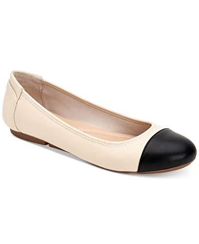 Price comparison product image Alfani Womens Tavii Cap Toe Ballet Flats,  Cream,  Size 7.5