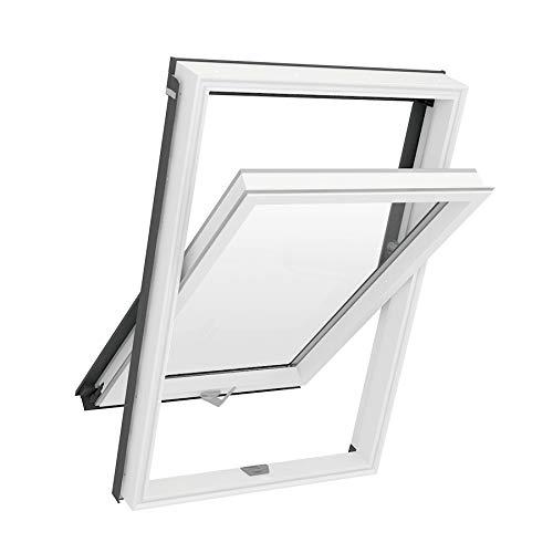 Solstro APX B700 Dachfenster, weißes PVC, kombiniert mit Universal-Eindeckrahmen - C2A, 55 x 78 cm