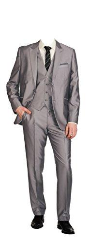 New Fashion Edel 5 teilige Kinder Anzug in Silber/Grau für Jungen/GR.86-164 (116/122)