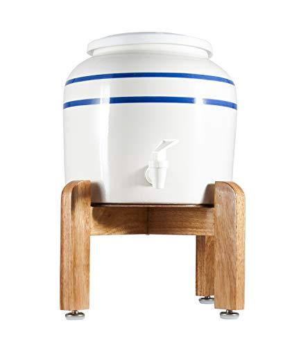 HODS HOME OFFICE DELIVERY SERVICES Dispensador de cerámica + Stand de Madera sobre Mesa