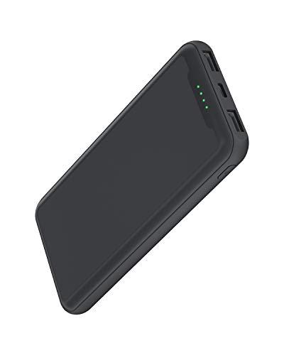 GACHI Powerbank, 15000mAh Externer Akku Powerbank, Tragbares Power Bank ladegerät mit 2 USB Ausgänge und 1 Eingang, Akkupack für Smartphone