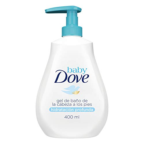 mejores Geles de ducha para bebé Baby Dove - Gel de Baño Hidratación Profunda para Bebés - 400 ml