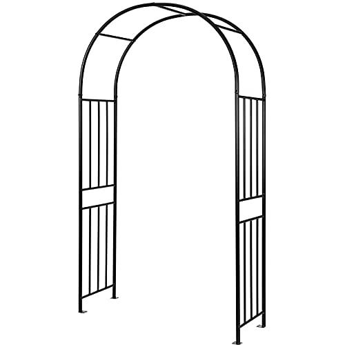 Guhih Arche De Jardin De 7,8 Pieds, Cadre en Acier Extérieur, Pergola Décorative pour Diverses Plantes Grimpantes, Arche De Mariage en Métal pour La Décoration De Fête Nuptiale De Pelouse