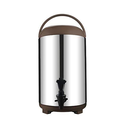 WWWANG Cubo de Acero Inoxidable con Aislamiento Doble de la Leche de Soja Tienda de té Cubo de Leche de Gran Capacidad Caliente y té frío Cubo de 8L10L12L Comercial Almacenamiento pequeño, práctico y
