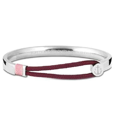 TOM HOPE Damen-Armband TM0460, Stahl und Faden, Rosa, Größe S