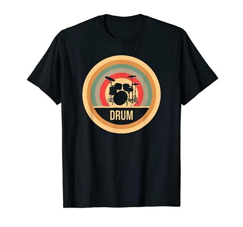 Retro Vintage Schlagzeug T-Shirt für Drummer