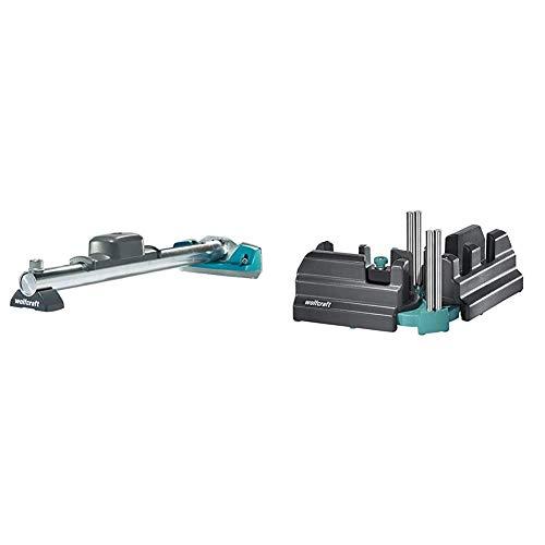 Wolfcraft 6945000 - Dispositivo de tracción y martillado para la unión de suelo laminado + 6948200 - Caja ingletadora y falsa escuadra 2 en 1