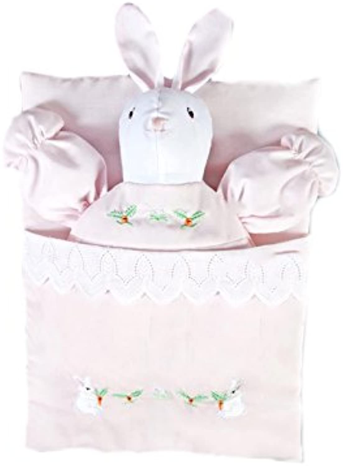 pinklina Pink Embroidered Bunting Bunny Doll 7494 PK Accessories