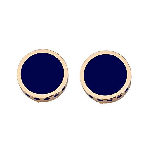 Tweedle Co, gemelli a bottone, accessori classici per camicie, abbigliamento formale, abito da sera, abbigliamento da lavoro e smoking, idea regalo per uomo lucido moderno oro rosa e blu navy.