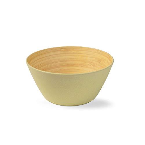 BIOZOYG 4 Piezas Cuenco de bambú de Primera Calidad Verde a 460...