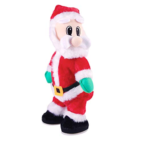 TOYANDONA Electric Santa Claus Singing and Dancing Electric Toy Twerking Santa Claus Musical Christmas Toys for Kids Gift Table Decor (Without Battery)