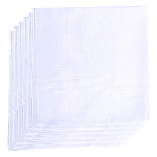 Geoffrey Beene 6 Pack Fine Men's Handkerchiefs 100% Cotton (White)