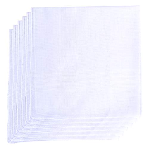 Geoffrey Beene 6 Pack Fine Men's Handkerchiefs 100% Cotton (White)