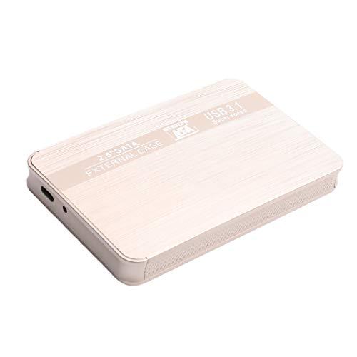 B Blesiya 500GB / 1T / 2T Actualización De Disco Duro Externo Móvil Interfaz HDD Type-C Dorado - 500GB