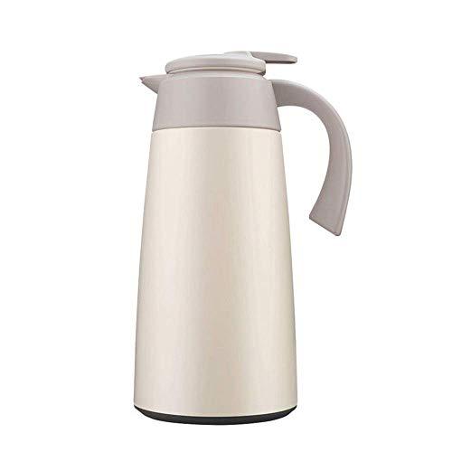 FHISD Botella de agua caliente de 12 horas de gran capacidad, hervidor de agua caliente y fría, café caliente y té para viajes (color: gris claro, tamaño: 2L)