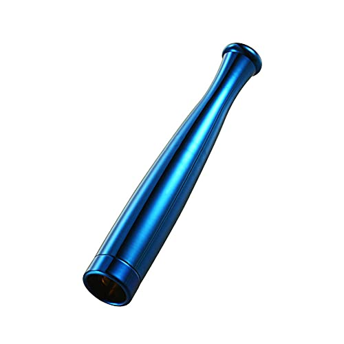 Cigaretthållare bärbar med filter, återanvändbar ren tjära rök tobak filterhållare för vanliga och smala cigaretter-blå