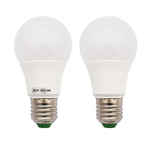 GRV 12-5730 SMD-LED-Leuchtmittel, E27, nicht dimmbar, 5 W, thermisches Kunststoff, entspricht 40 W, AC 12V DC 12-24 V, cool white,Packung mit 2
