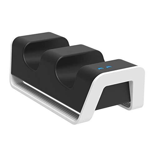 Teckey Caricatore Controller Wireless PS5 con Luce LED, Caricatore Doppio Caricatore Gamepad PS5, Protezione di Ricarica Intelligente