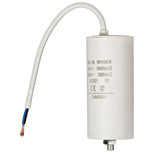 Kondensator Anlaufkondensator Motorkondensator 50 µF uF 450V mit Anschlusskabel