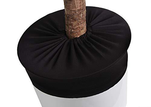 LYLANI Blumentopfschutz, innovatives Design, hochwertiger Stoff (Durchmesser: 38-40 cm, Schwarz)