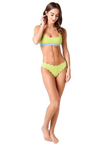 Marysia Women's Mini Palm Springs Reversible Bikini Top (Adriatic Blue/Cactus, M)