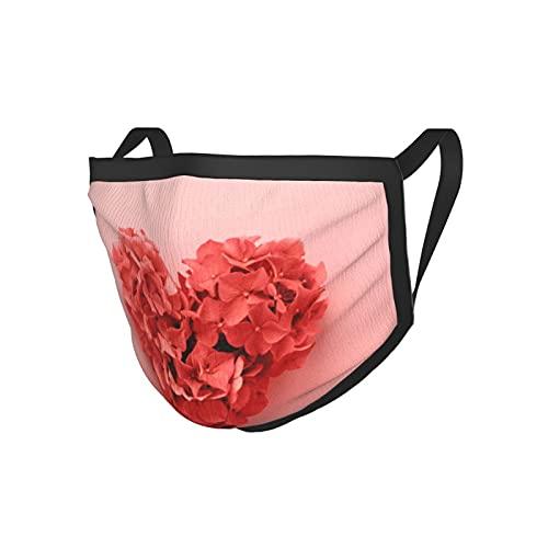2 unids/lote Mascarilla facial adulto vivo color coral del año 2019. forma de corazón hecha de flores. día de San Valentín. paleta de colores. amor Fashion20x15cm