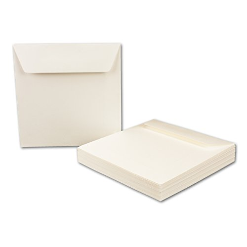 Enveloppes carré Opale/Blanc, 15,5x 15,5cm, 120g/m²//naßklebung//rabat/plates/Série o.p.a.l Quadratisch Opal-Weiß