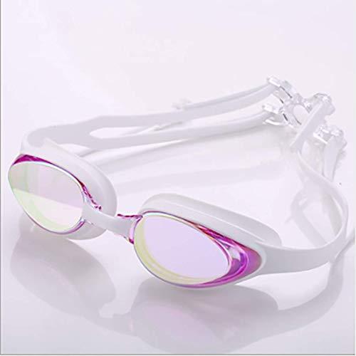 HD Anti-fog Waterproof Adult zwembril Mannen en Vrouwen General Verstelbare Zwemmen Bril Conjoined Oordoppen swimming glasses (Color : 5)