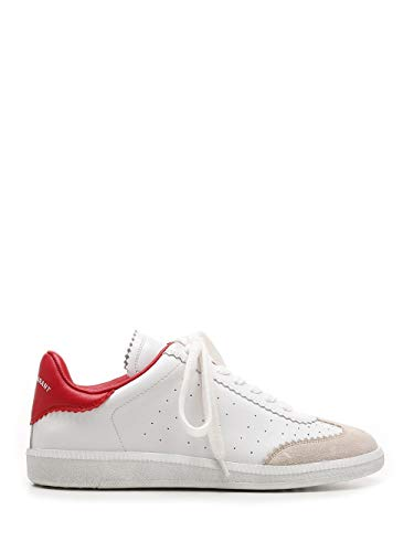 Moda De Lujo | Isabel Marant Mujer Bk002921P041S70Rd Blanco Otros Materiales Zapatillas | Ss21