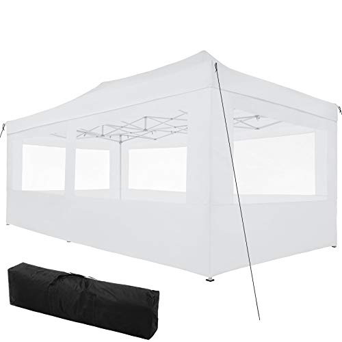 TecTake 800688 Carpa de Jardín 6 x 3m, Plegable, Aluminio, 100% Impermeable,...