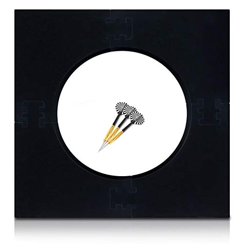 Dart Surround für alle Marken-Dartscheiben 45,5cm – Dart Auffang-Ring Schwarz – Umrandung – Wandschutz für das Dartboard ohne Zusatzbefestigung