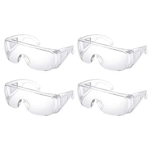 EXCEART 4 Pezzi Occhiali Protettivi Antispruzzo Occhiali Protettivi Antispruzzo Lenti Trasparenti Antiappannamento Occhiali Protettivi per Sicurezza Sul Lavoro in Laboratorio All'aperto
