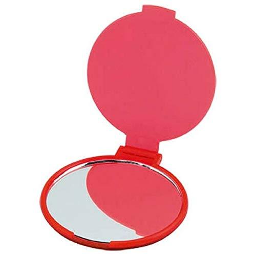 Miroir de Poche Pliable Rond - Mirroir pour Sac à Main Couleur - Rouge