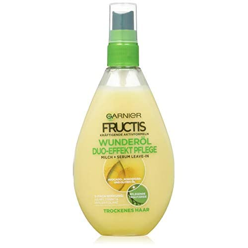 Garnier Fructis Duo effetto di cura Oil Repair trattamento dei capelli, Intensiv haaroel zum Spray Senza Risciacquo (con preziosi Natura di oli–per capelli secchi, danneggiati) 1er Pack–150ML)