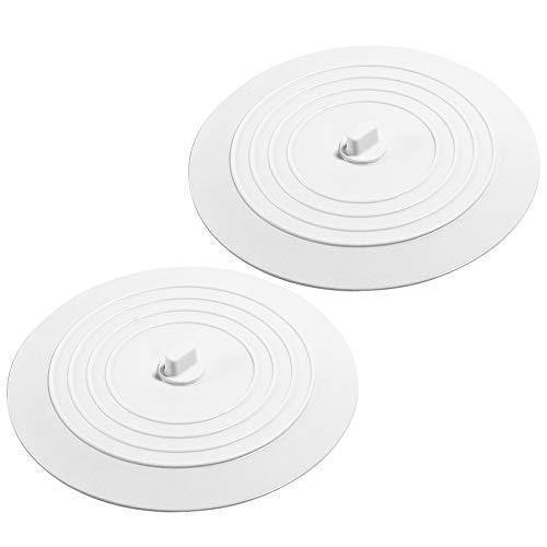 FYSL 2 Stücke Silikon Wanne Stopper Universal Abflussstöpsel Silikon Abflussstopfen für Ihre Küchen, Badezimmer und Wäschereien