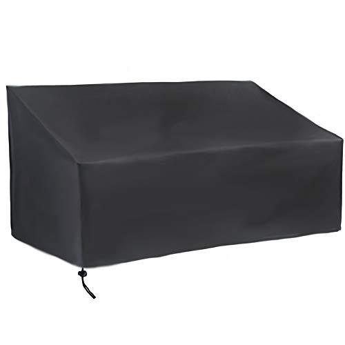 Xbnmw Seat Cover Patio, ABRIS Banc de Patio extérieur résistant à l'eau, Fade/Stain/résistant aux UV Couvertures de Meubles, canapé Causeuse Couverture,190x66x89cm