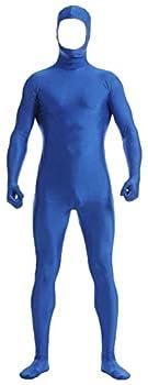 VSVO Face Open Zentai Spandex Bodysuit  Large Blue