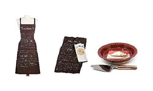 Pumpkin Pie Bakers Gift Set Including Baking Dish Pie Server Apron and Kitchen Towels