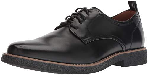 Deer Stags Men's Highland Memory Foam Dress Casual Comfort Oxford, Black/Black, 10.5 Medium US