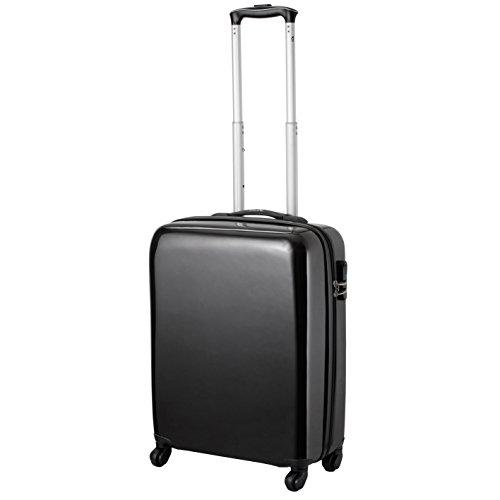 Cabin Max Icon 2.0 – Trolley Valigia con 4 Ruote Leggera in ABS – Bagaglio a Mano da Cabina per Ryanair 55 x 40 x 20 (Nero)