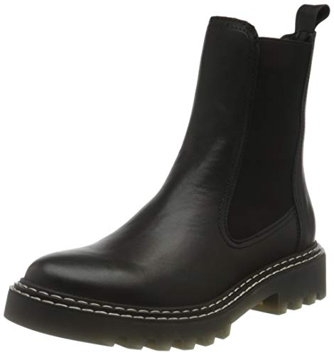 Tamaris Damen 1-1-25455-26 Chelsea-Stiefel, Chelsea, black leather, 38 EU
