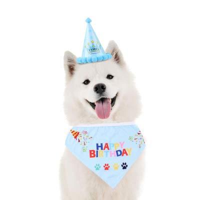 YUET Haustier-Hut für Hunde und Katzen, zum Geburtstag, Halstuch, Krawatte, Party, Schal und süß für Mädchen Jungen, weicher Schal & entzückend für Accessoires, Geschenk-Dekorationsset